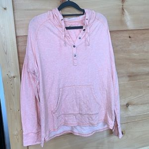EUC Carhartt large lined hoodie pink